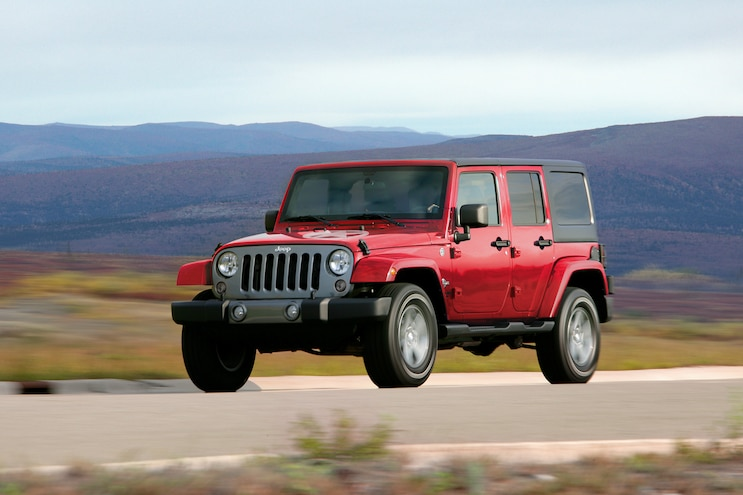 2014 Jeep Wrangler Unlimited Front Drivers In Motion