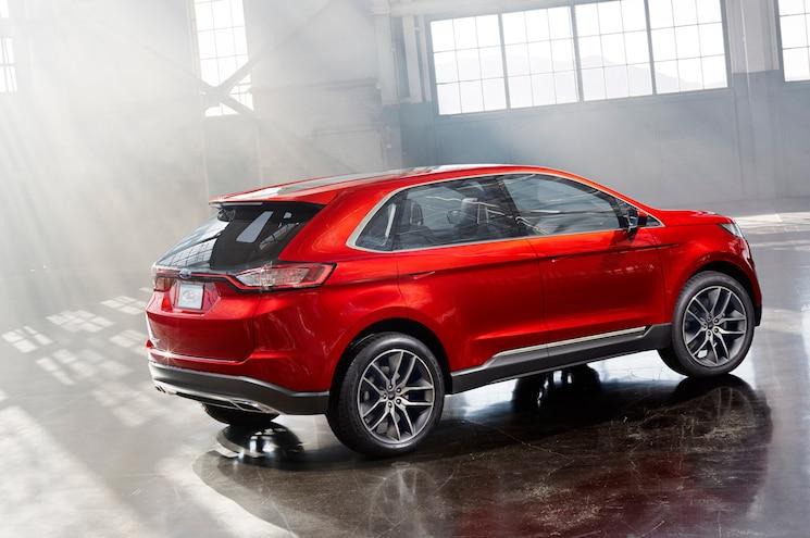 Ford Edge Concept Rear Three Quarters View