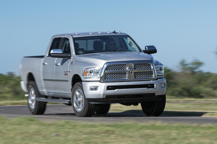 2014 Ram 2500 HD Laramie Limited Front Three Quarters View In Motion