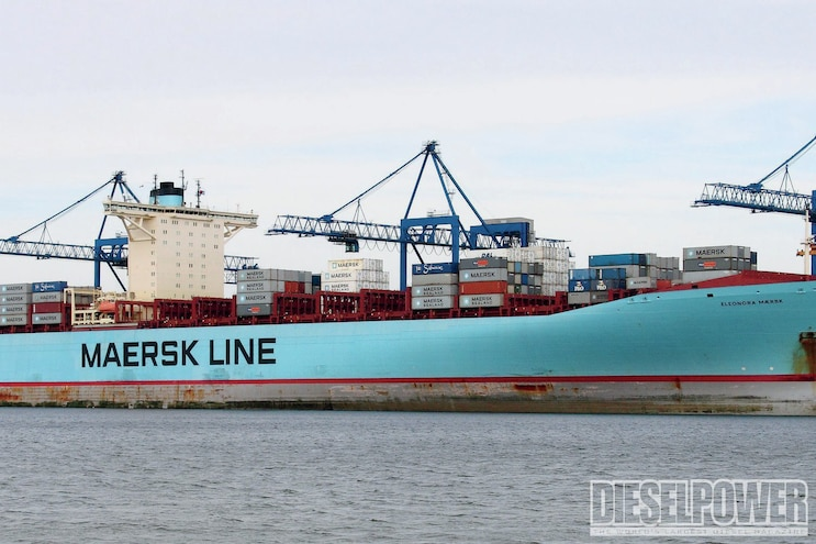 Maersk E Class Container Ships Side View