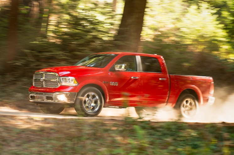 2014 Ram 1500 Ecodiesel Side View In Motion