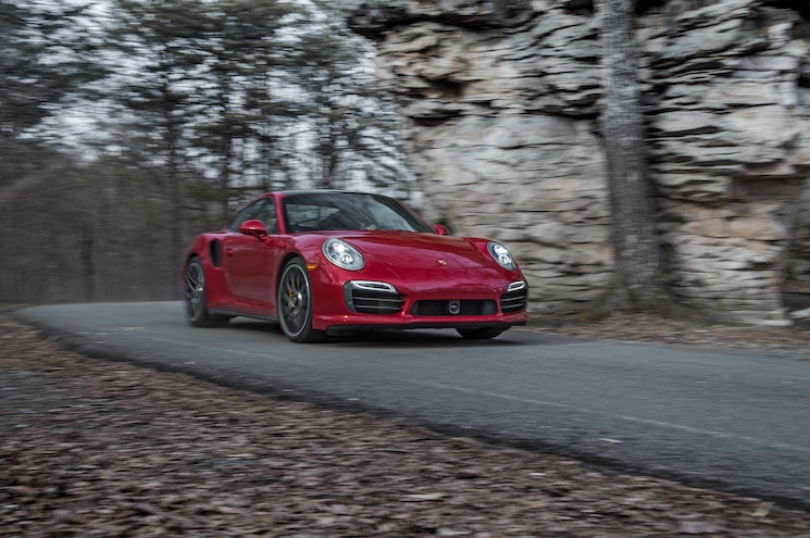 2014 Porsche 911 Turbo S Front Three Quarter In Motion