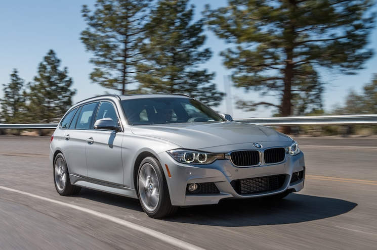 2014 BMW 328d XDrive Wagon Front Three Quarters In Motion 06