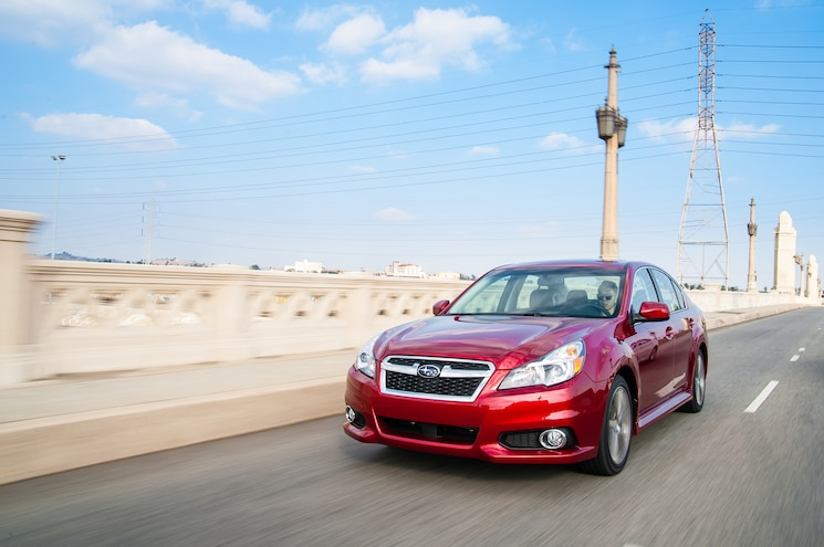 2014 Subaru Legacy Sport Front Three Quarter In Motion 03