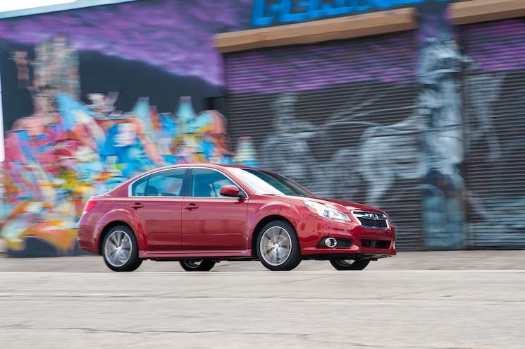 2014 Subaru Legacy Sport Side In Motion