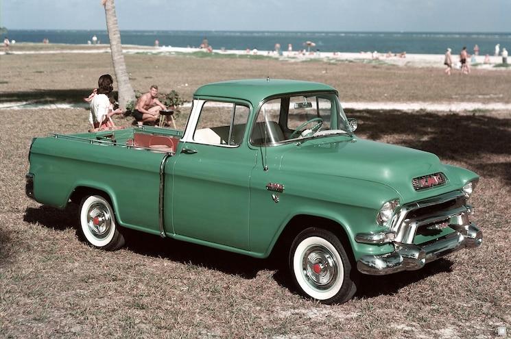 1955 GMC Model 101 Suburban Pickup Front Three Quarter