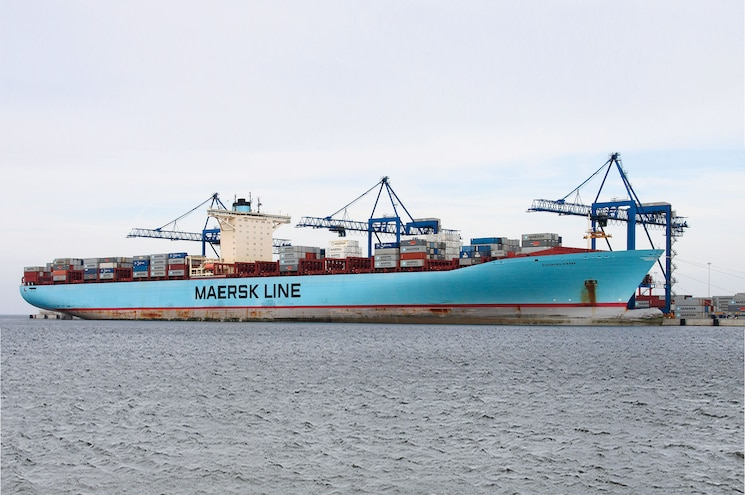 Maersk E Class Container Ships Front View