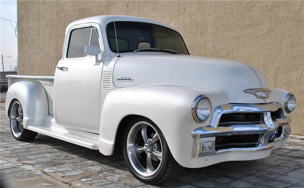 1954 CHEVROLET 3100 CUSTOM 5 WINDOW PICKUP Lot 154 Barrett Jackson