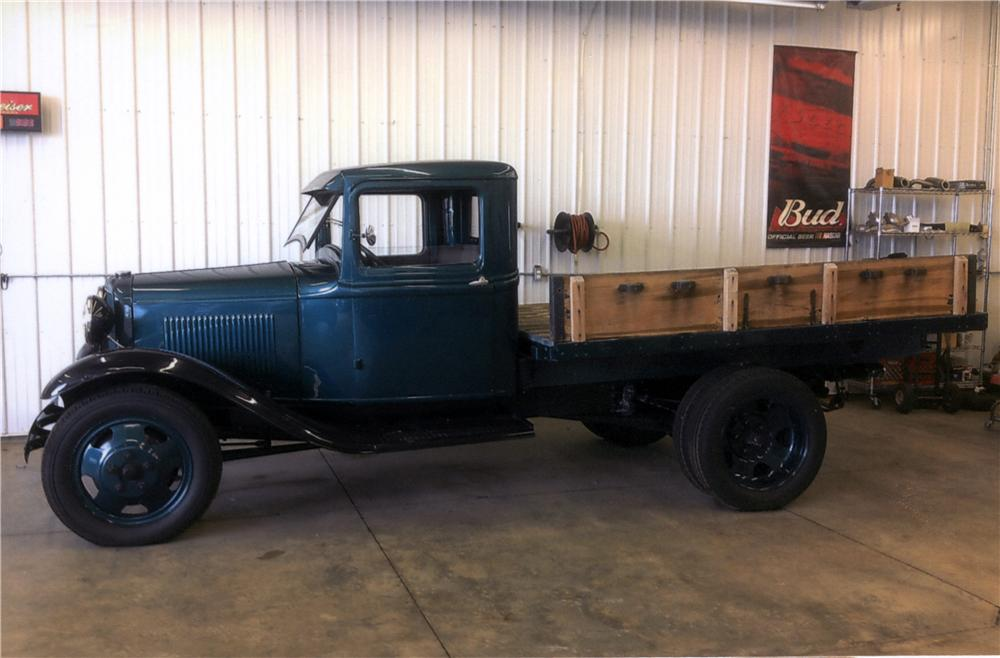 1932 FORD MODEL B 1 TON TRUCK Lot 32  Barrett Jackson