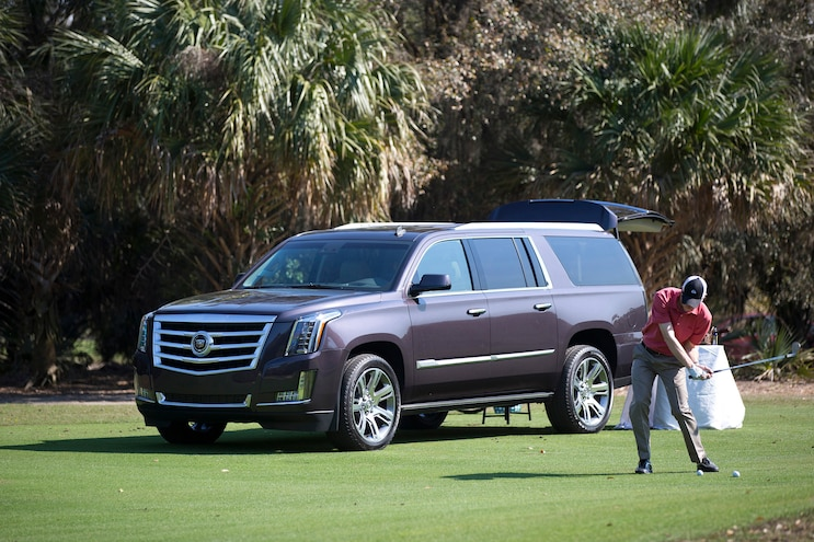 2015 Cadillac Escalade Front Three Quarter Golf Course