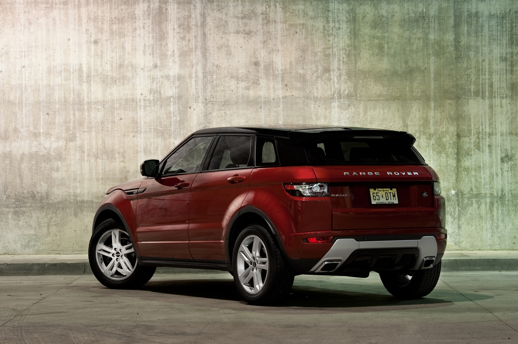 2012 Land Rover Range Rover Evoque Rear Three Quarters
