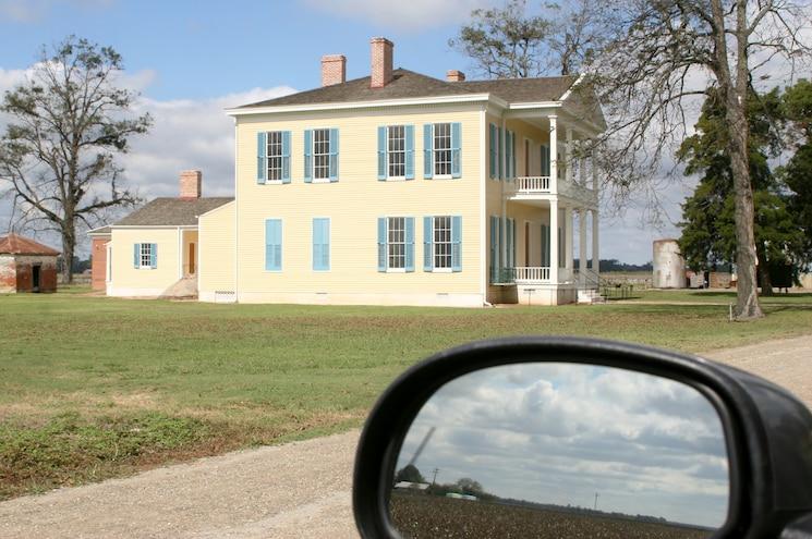 Arkansas Mississippi River Delta Lakeport Plantation With Truck Mirror