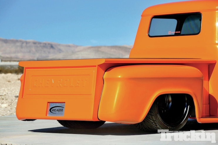 1956 Chevrolet Stepside Tail View