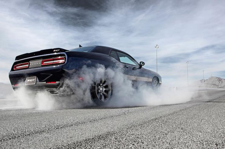 2015 Dodge Challenger SRT Burnout Rear Side View