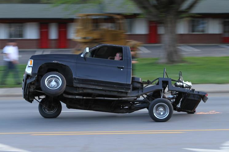 2014 Southeast Mini Truckin Nationals Nissan Truck Dragging