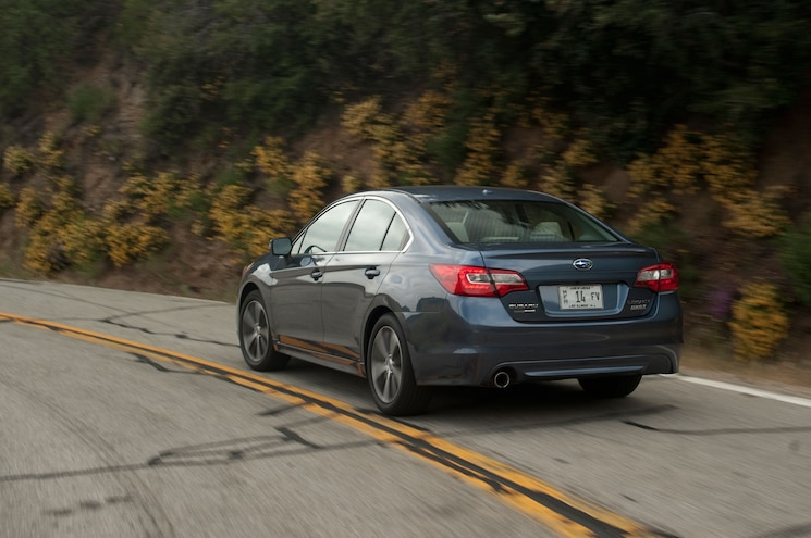 2015 Subaru Legacy 25i Limited Rear Side View In Motion