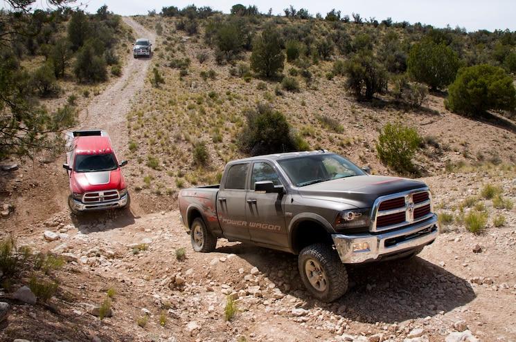 2014 Ram 2500 Power Wagon Front Three Quarter Trail