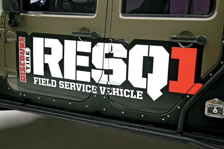RESQ1 Field Service Vehicle 2side Decal
