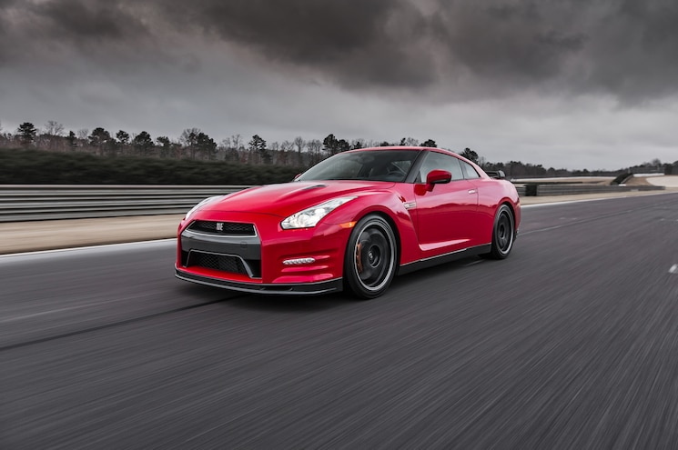 2014 Nissan GT R Track Edition Front Three Quarter In Motion