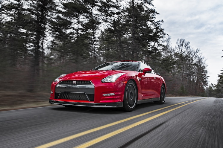 2014 Nissan GT R Track Edition Front Three Quarters In Motion