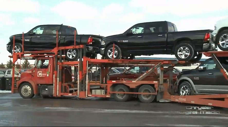 2014 Ram 1500 Ecodiesel On Carrier Warren Truck Assembly Plant Feb 26 2014