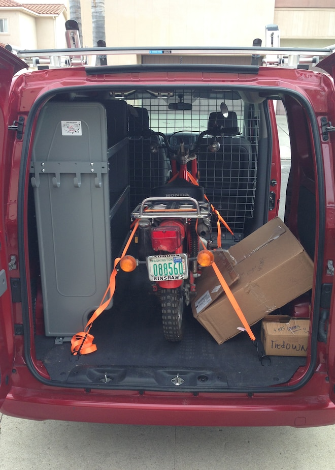 2013 Nissan NV200 With Honda In Cargo Space 01