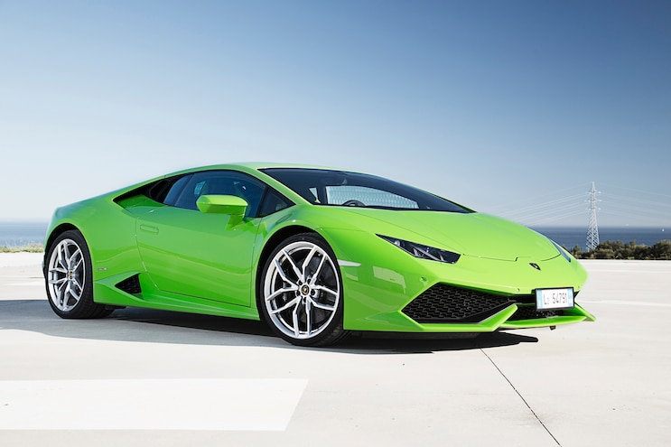 2015 Lamborghini Huracan LP 610 4 Green Front Three Quarter 04