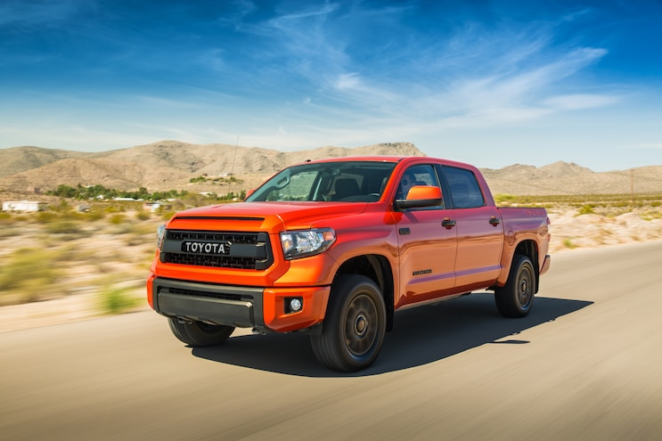 2015 Toyota Tundra TRD Pro Front Three Quarter In Motion 05