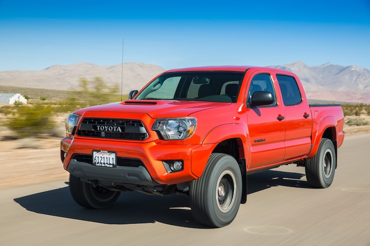 2015 Toyota Tacoma TRD Pro Front Three Quarter In Motion 02