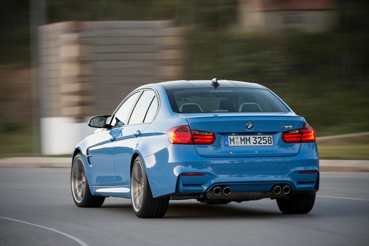 2015 BMW M3 Sedan Rear Three Quarters In Motion 04