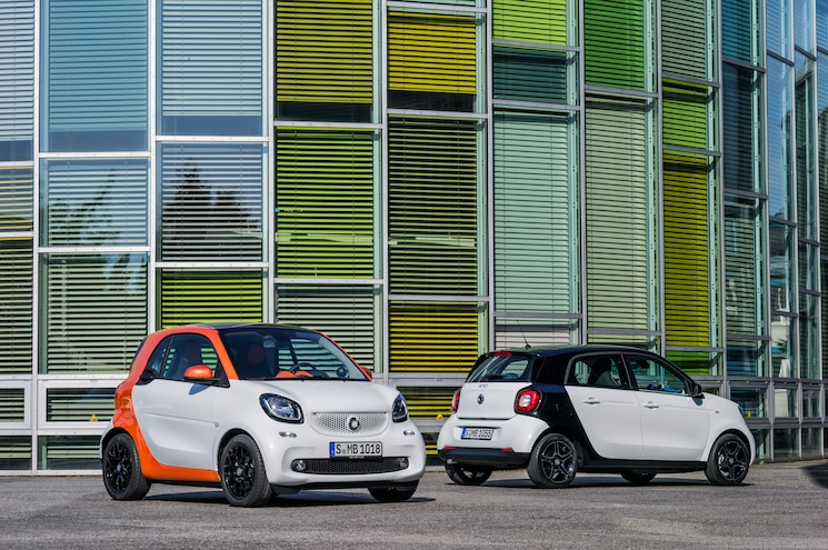 2016 Smart ForTwo Front Rear Three Quarter