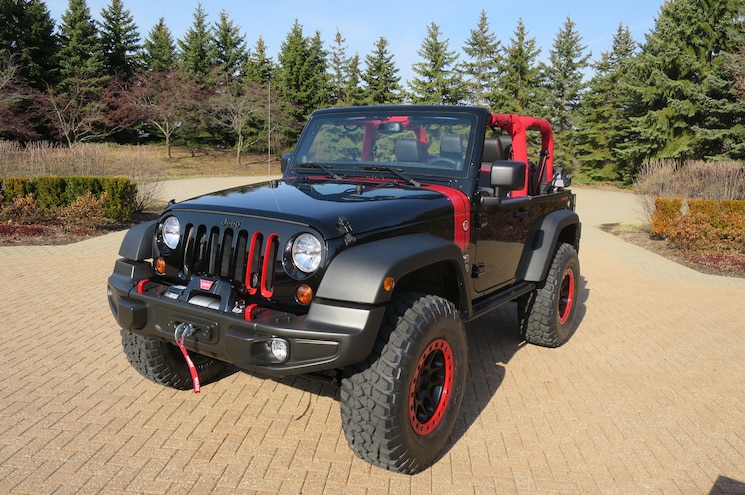 Jeep Wrangler Level Red Concept Front Three Quarter
