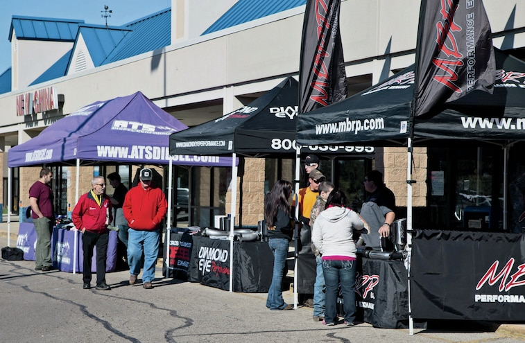 Vendors At Dyno Day Event