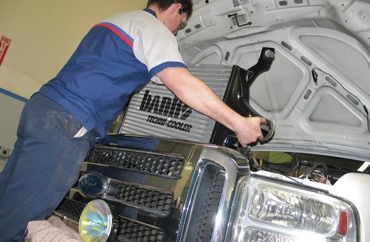 2007 Ford F 250 6L Power Stroke Banks Techni Cooler Intercooler