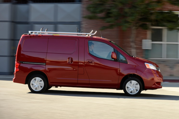 2013 Nissan NV200 SV Side View In Motion