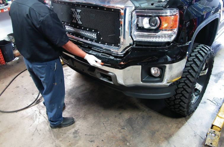 2014 GMC Sierra Bumper Bolts Removed
