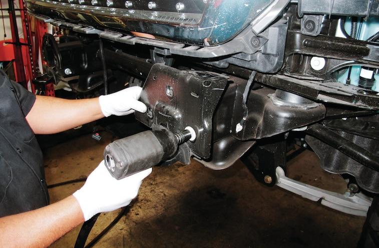 2014 GMC Sierra Tow Hooks Removed