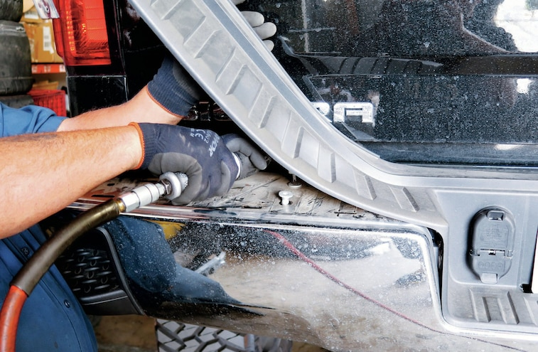 2014 GMC Sierra Plastic Bumper Step Pad Removed