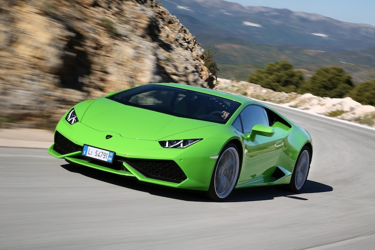 2015 Lamborghini Huracan LP 610 4 Green Front Three Quarter Turn