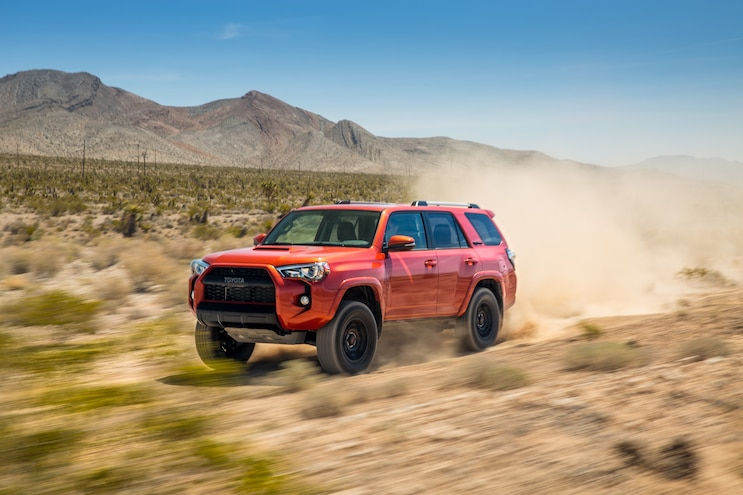 2015 Toyota 4Runner TRD Pro Side In Motion 05
