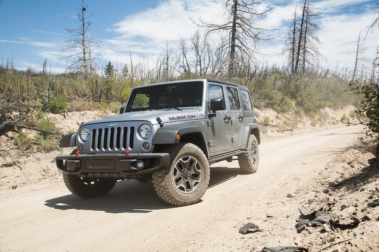2014 Jeep Wrangler Unlimited Rubicon X Front Three Quarters