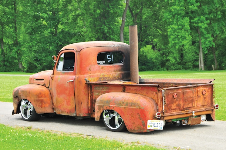 1950 Ford F 1 Rear View