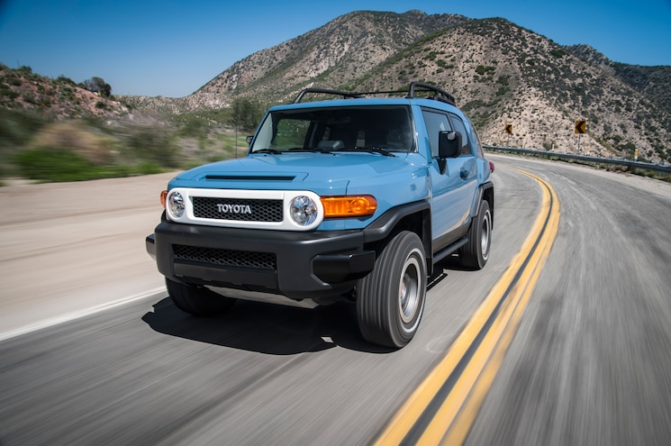 2014 Toyota FJ Cruiser Trail Teams Ultimate Edition Front Three Quarters In Motion