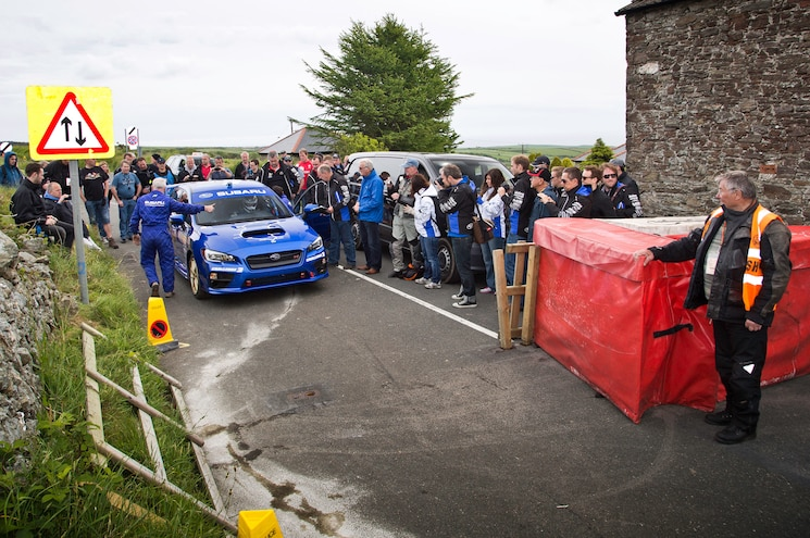 2015 Subaru WRX STI At Isle Of Man Course