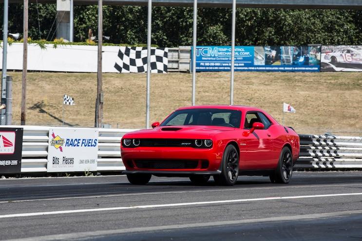 2015 Dodge Challenger SRT Hellcat Front Three Quarter