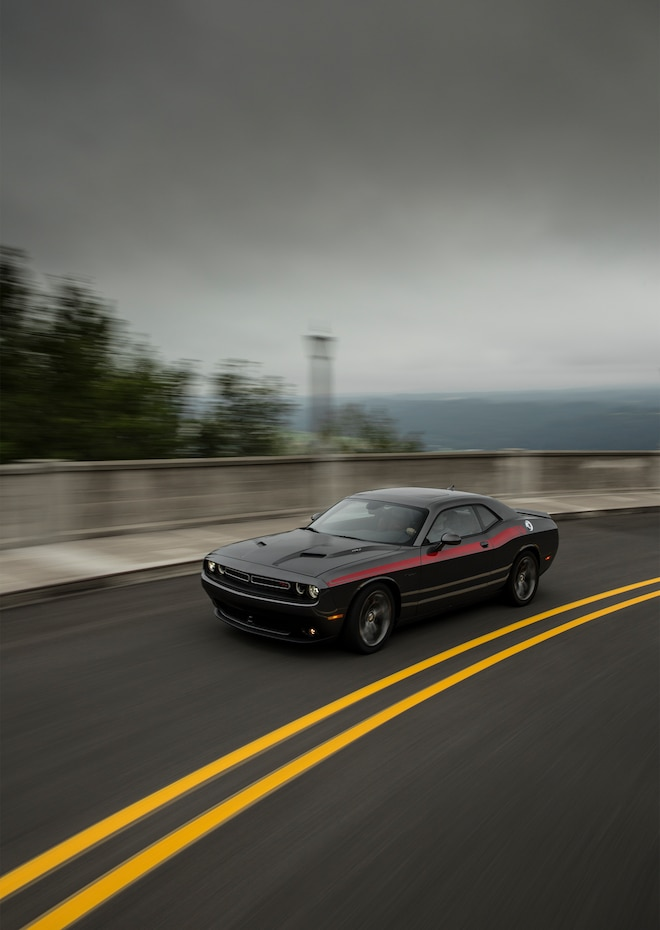 2015 Dodge Challenger RT Plus Front Three Quarter In Motion