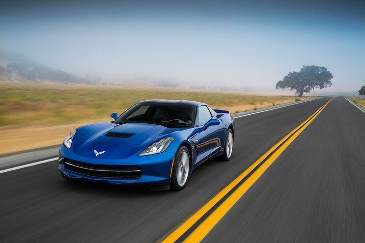 2015 Chevrolet Corvette Stingray Front Drivers Side View In Motion