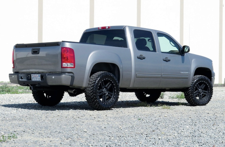 2010 GMC Sierra Bumper Face Lift Rear View