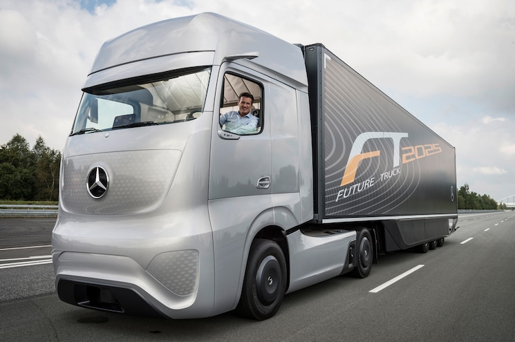Mercedes Benz Future Truck 2025 Front Three Quarters View