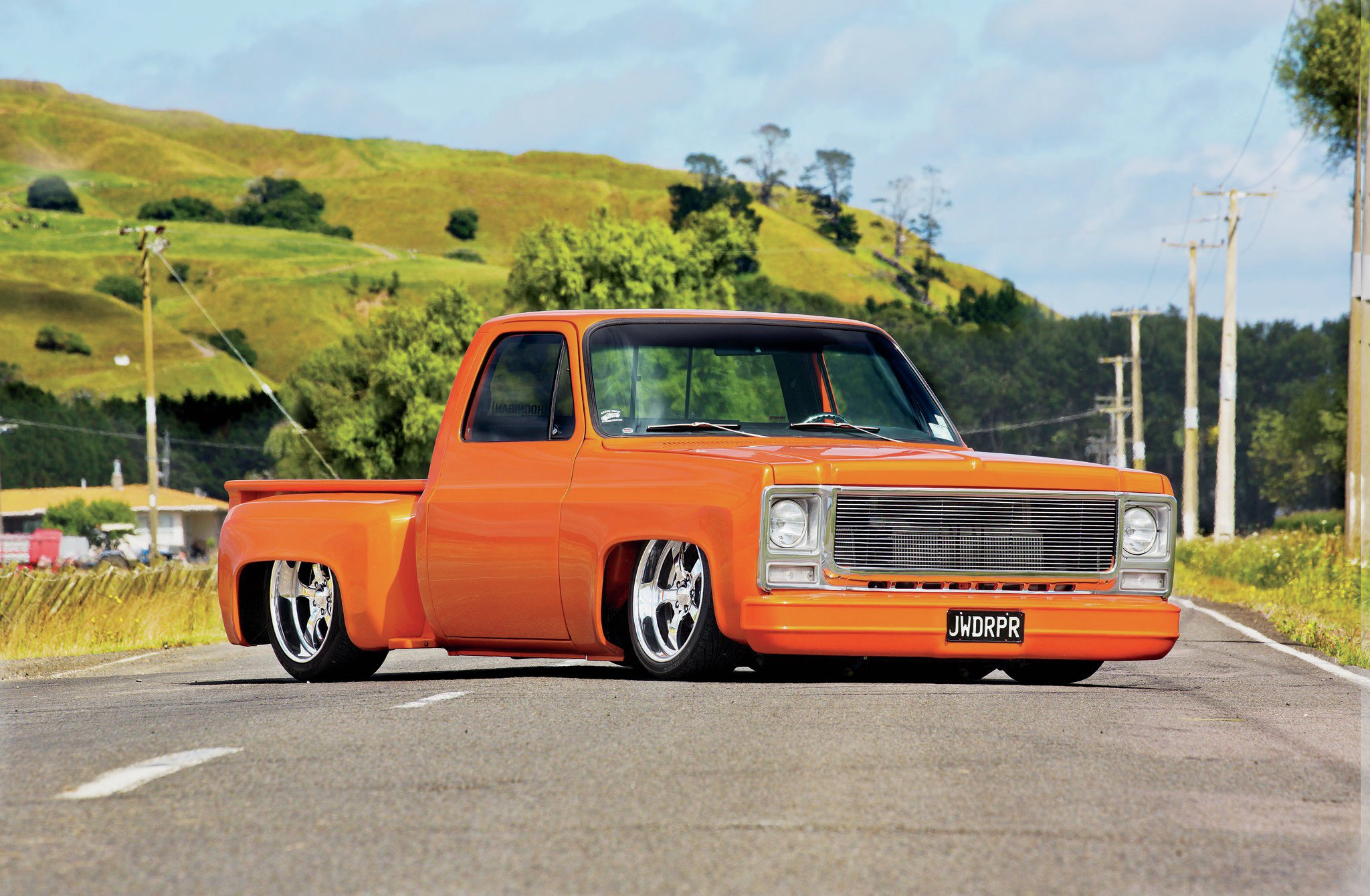 1979 Chevrolet C10 Stepside Kiwi Tangerine Photo Image Gallery